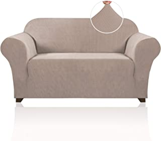 Stretch Sofa Slipcover 1 Piece Sofa Cover for 2 Cushion Couch Furniture Protector/Cover Couch with Elastic Bottom Soft and...