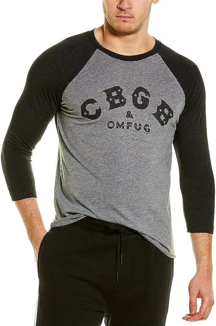 Direct store Large special price Cbgb Music Black Adult 3 Shirt Sleeve 4 Raglan