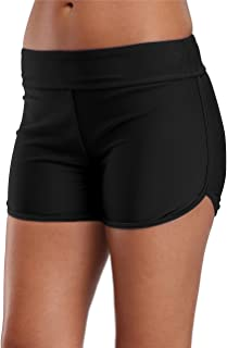 Womens Waistband Swimming Shorts Tankini Swim Bottoms Swimwear Tag S Black Size 6