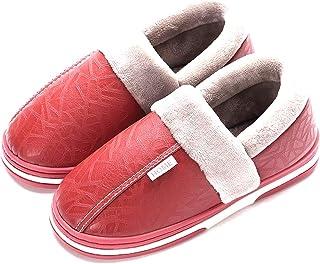 37-48 Homme Polaire Doublé Home Pantoufles Chaussures Chaud Épais Étanche Anti-dérapant