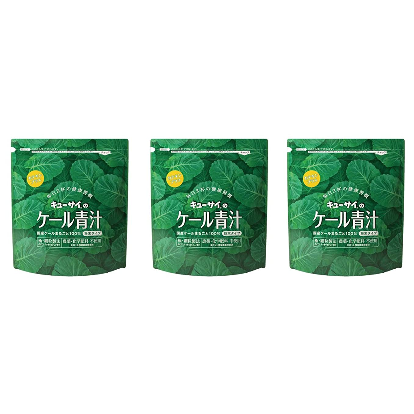 故国見物人干し草キューサイ ケール青汁(粉末タイプ)カテキンプラス 420g 3袋