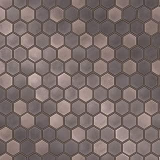 Tempaper Regal Noir Hexagon Tile   Designer Removable Peel and Stick Wallpaper
