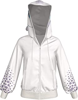 Xcoser Ours Sweat /à Capuche Anime Cosplay Kuma Costume Sweatshirt Zip Veste Blanc/&Noir Pullover Top Coat pour Printemps Automne