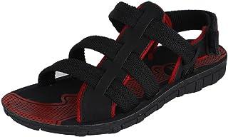 Earton Men's Black & Red EVA Sandals & Floaters
