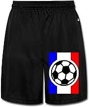 Show Time Men's French Football Flag Soccer Short Athletics Sweatpants Black
