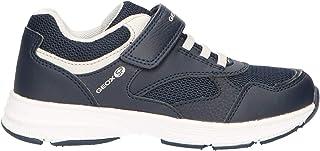 Geox Boy's HOSHIKO 5 Sneaker Single Riptape Closure,Navy/Grey, 8.5M, 25 M EU Little Kid (8.5 US)