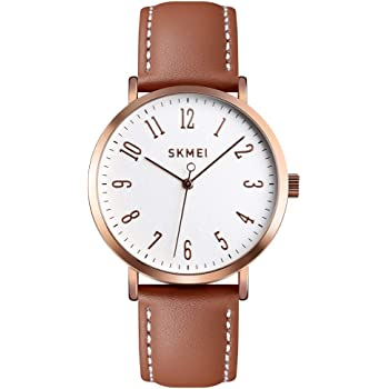 Fashion Women Wrist Watch, Toocat Lady Simple Leather Quartz Watches Ultra-Thin Waterproof Analog Watches for Girls Student