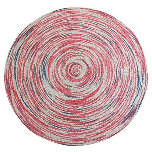 Alfombra redonda de yute para decoración de salón y...