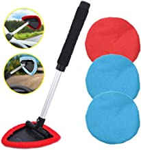 AutoEC Auto Car Windshield Cleaner, Extendable Handle Window Cleaner Brush Kit Comes with 4 Packs Washable and Reusable Pa...