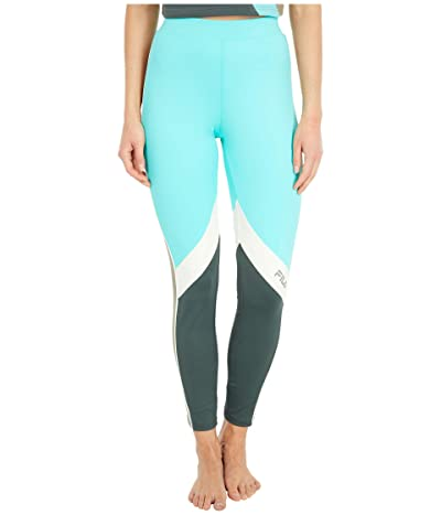 Fila Sonya Leggings (Blue Turquoise/Urban Chic/Turtle Dove/Vetiver) Women