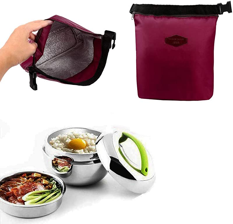 Koolsants Insulated Thermal Cooler Lunch Bag Pouch Picnic Storage Box Camping Thermal Portable Lunch Pouch