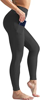 Cadmus Womens High Waist Yoga Leggings for Workout w Out Pockets