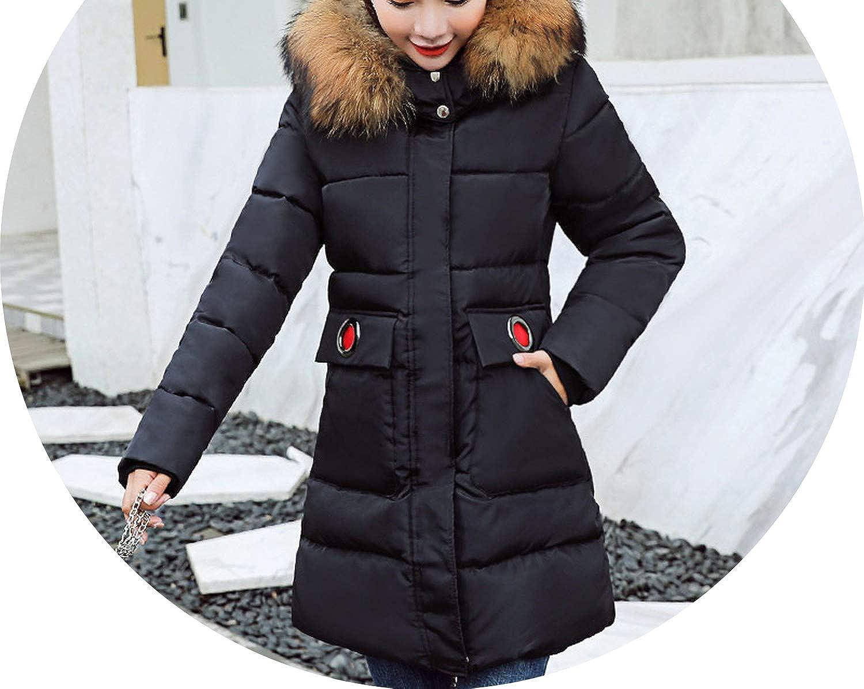 ShowShowFashion&coats Winter Jacket Women Hooded Cotton Padded Female Coat Parka Long Parkas
