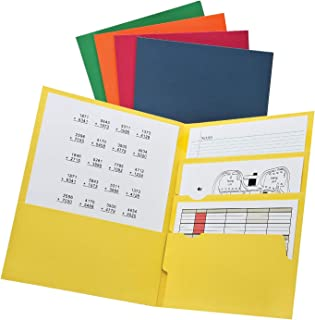 Oxford Divide it Up, 4 Pocket Folder, Assorted Colors, Letter Size, 25 per box (59803)