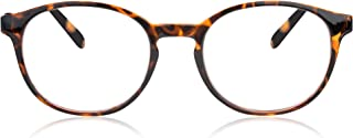 In Style Eyes Opulent Oval Clear Frame Reading Glasses Set with Case