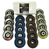 DocaDisc Flap Disc Variety Pack of 20 Discs Type 27 & Type 29 Mixed Grits Professional Grade - Abrasive Grinding Wheel and Flap Sanding Disc