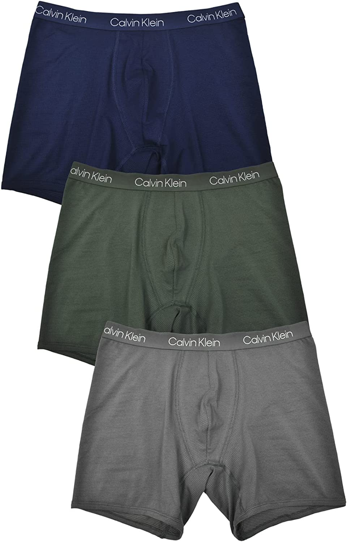 Calvin Super sale Klein Men`s Breathable OFFicial site Cotton 3 Briefs Boxer Mesh Pack