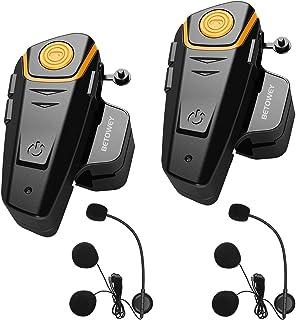 BETOWEY 2X BT S2 Intercomunicador Casco Moto Manos Libres Auriculares Sistema de Comunicación por Bluetooth para Motocicle...