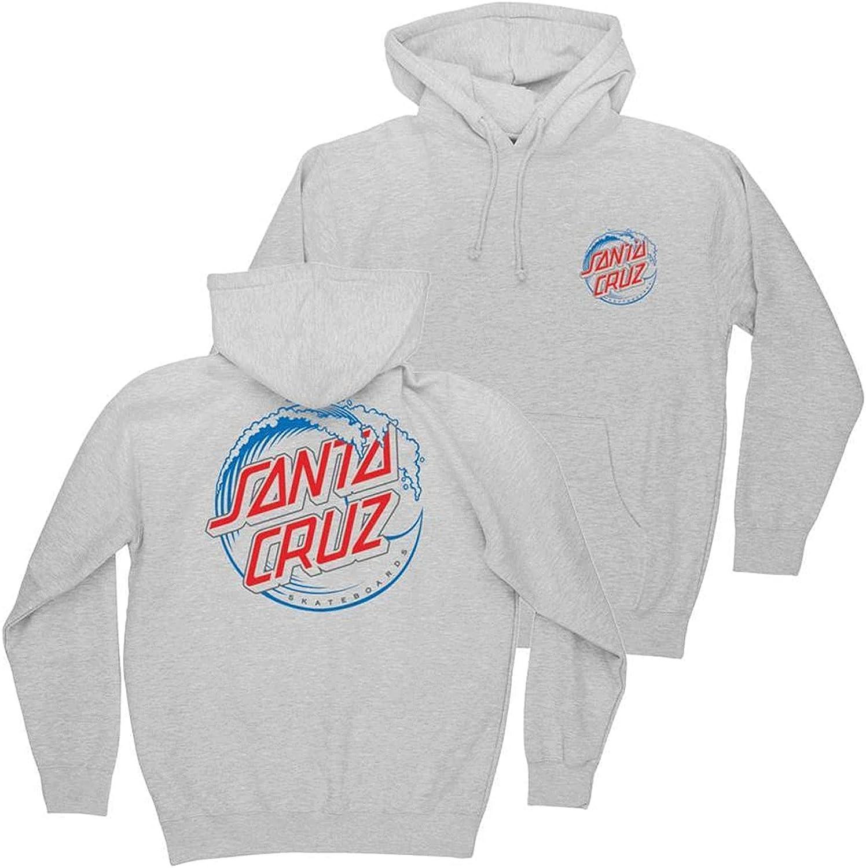 Outlet ☆ Free Shipping Santa Cruz Wholesale Men's Vacant Hoody Wave Dot Heavyweight