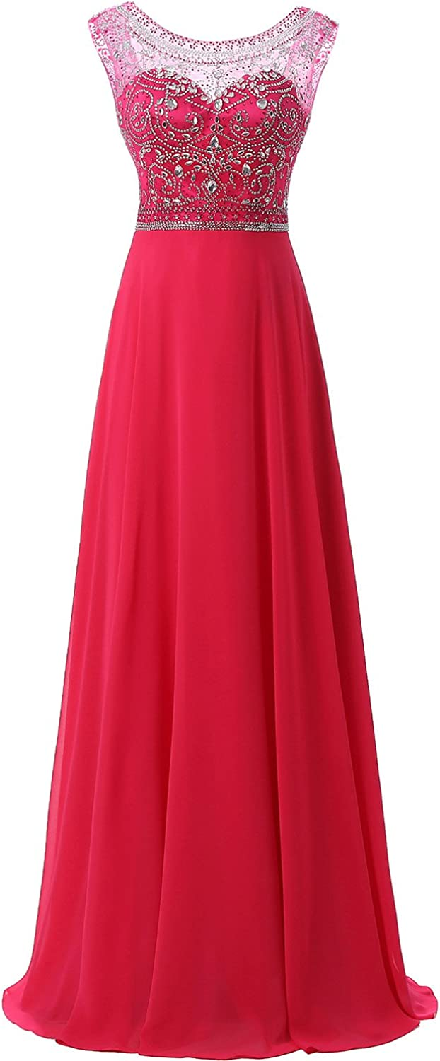 Belle House Long Prom Dresses 2019 for Women Elegant Beaded Evening Ball Gown