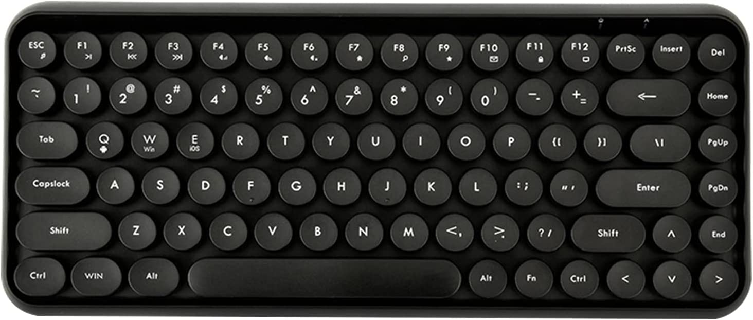LomiLuskr 308i Wireless Bluetooth Keyboard, Compact 84 Keys, Tablet Keyboard, Portable Mini Keyboard, Compatible with iOS/Android/Windows (Black)