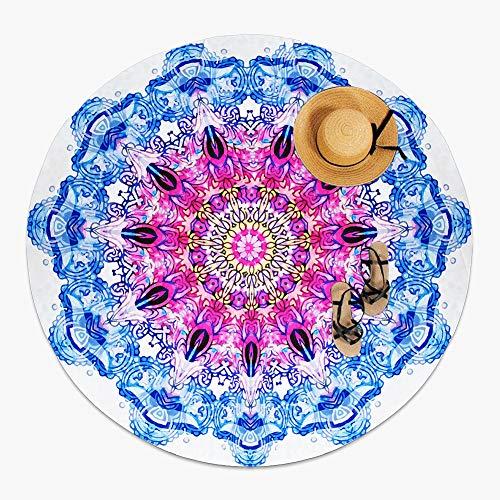 MOYA Life Toalla de playa redonda, estilo mandala indio, boho hippie tablecloth...