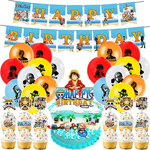 Kit de Decoracion Cumpleaños Globos YUESEN 40 Piezas Decoración para Fiestas Temáticas Globos Fiesta Cumpleaños Decoración Globos Diseño de Bandera de Calavera for Suministros Decoración