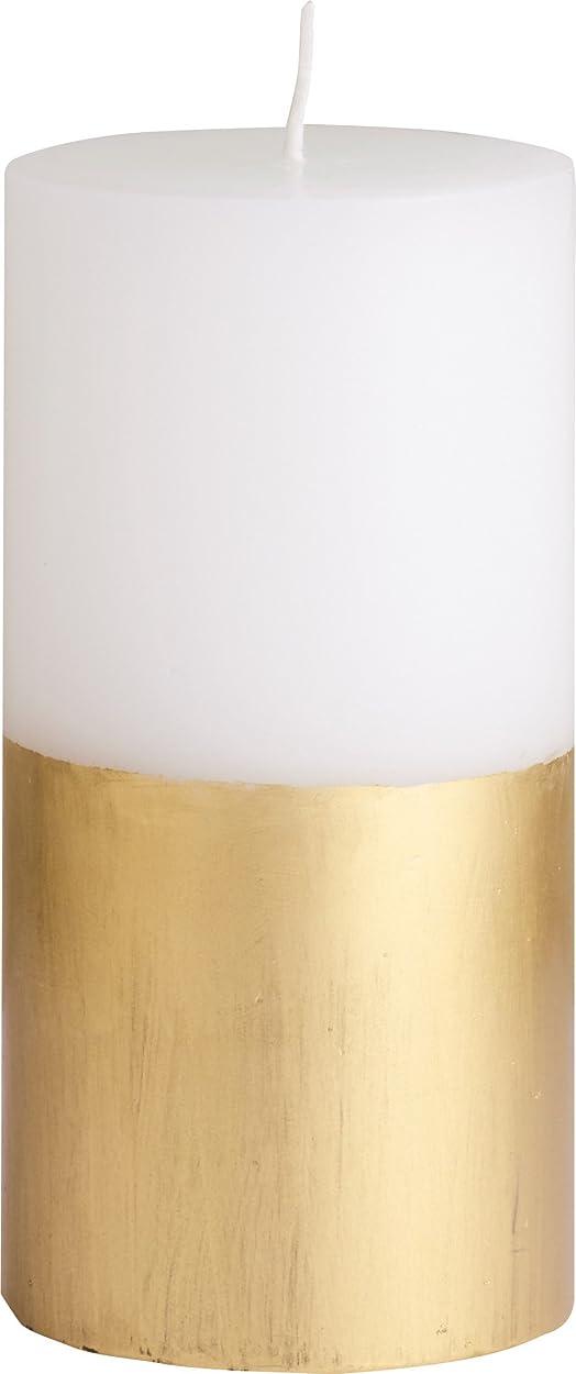 回復する嫌い小道カメヤマキャンドルハウス ツートンピラーキャンドル 直径7.5cm×高さ15cm ゴールド