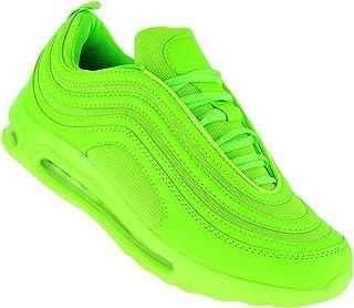 Bootsland Neon Turnschuhe Sneaker Sportschuhe Luftpolstersohle Herren 089