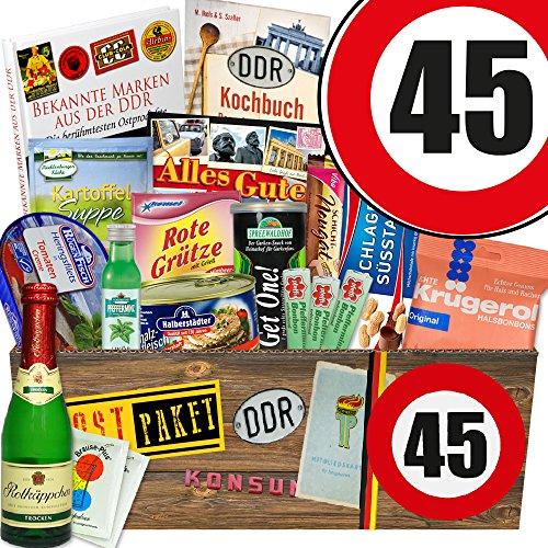 Ostpaket XXL / Geburtstag 45 / Geschenkset Frau / Spezialitätenbox