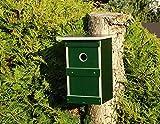 Jagdfallen Steingraf 2x/4x Premium Nistkasten Meisen Vogelhaus Nisthaus Nisthöhle Einflugloch 28mm (1 Stück, Grün)