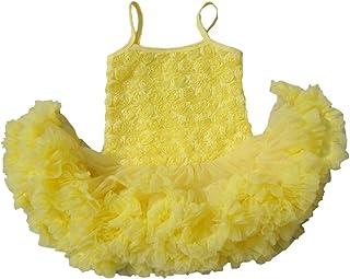 DQdq Baby Girls' Summer Clothing Sleeveless Layered Princess Dress with Rose