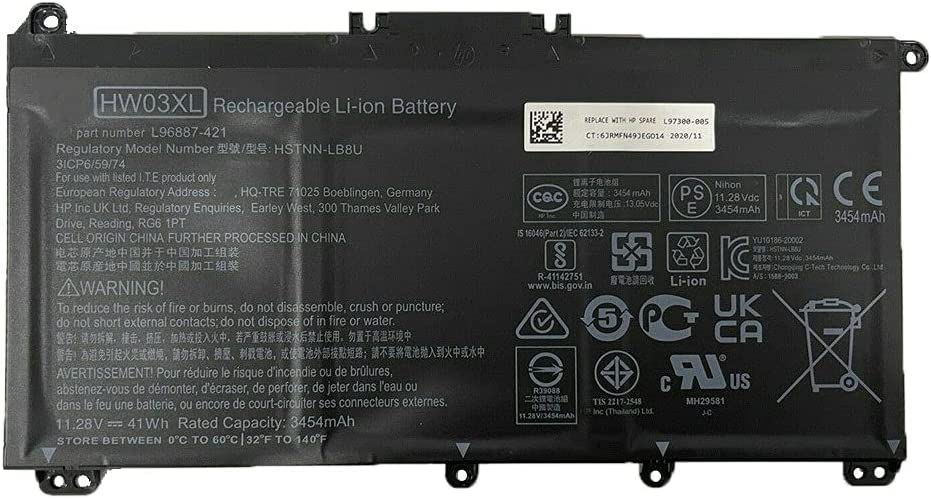 HW03XL Battery Laptop Spring new work one after another Inventory cleanup selling sale for HP Pavilion 15-EG0067ST 15- 15