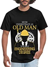 Never Underestimate an Old Man Engineering Degree Men's T-Shirt