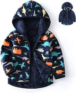 Toddler Polar Fleece Jacket Hooded Baby Boys Girls Autumn Winter Long Sleeve Thick Warm Outerwear