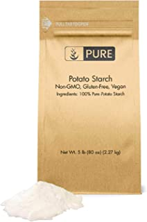 Potato Starch (5 lbs), Gluten-Free, NON-GMO, All-Natural, Thickener For Sauces, Soup, & Gravy, No Added Preservatives Or A...