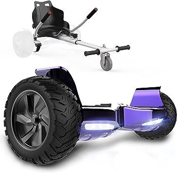 GeekMe Patinete Eléctrico Todo Terreno de 8,5 Scooter Equilibrado con Potente Motor Bluetooth + Hoverkart Accesorio para Patinete Eléctrico