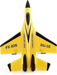 FX FX-820 2.4Gマイクログライダー290mmウィングスパン固定翼グライダーRC飛行機RTF(黄)