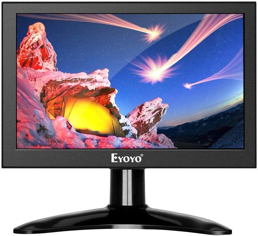Eyoyo 7 inch Small HDMI LCD Monitor Portable IPS Screen 1280x800 16:10 Support HDMI VGA AV BNC Inputs