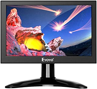Eyoyo Eyoyo 7 inch Small HDMI LCD Monitor, Portable 1280x800 16:10 IPS Screen Support HDMI/VGA/AV/BNC Inputs