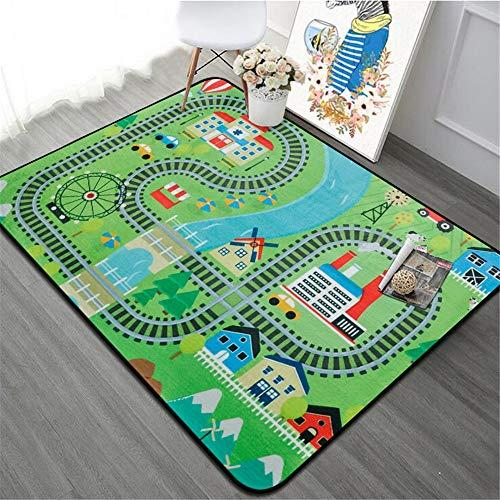 Tapis de jeu pour enfants Tapis for enfants Tapis de jeu Tapis de jeu City Life Idéal for jouer avec des voitures et des jouets Jouez Apprenez et amusez-vous en toute sécurité Tapis de sol pour enfant