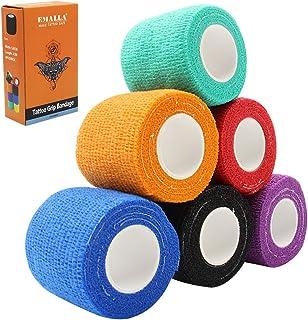 Zelfklevende bandage - SOTICA 6PCS gemengde kleur wegwerp tattoo grip cover tape huisdier dierenarts wrap zelfklevend verb...