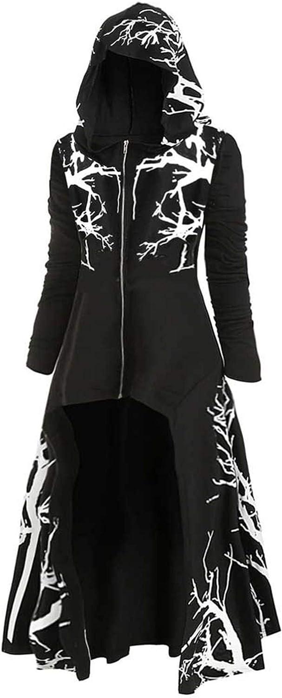 JHDESSLY Asymmetrical Cardigan Jacket with Hooded Zip Cloak for Women