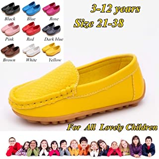 Professionally Made Soft and Comfortable Flat Shoes for Cute Children Summer Shoes for Kids(Red,28)