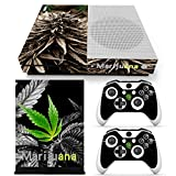 L'Amazo Best Extraordinary style XBOX ONE S SLIM Skin Designer Game Console System p 2 Controller Decal Vinyl Protective Covers Stickers Marijuana Leaf Weed Cannabis Plant Beautiful Life