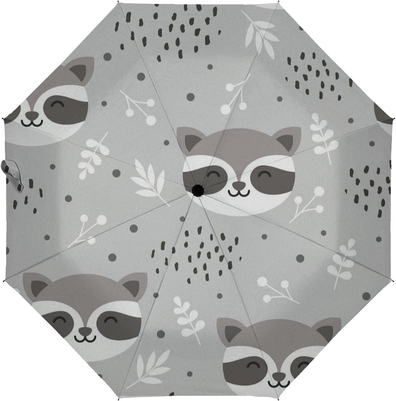 Regular discount ZXZNC Compact Umbrella Sunflower and Cats Aut Ranking TOP5 Cute Animal Kitten
