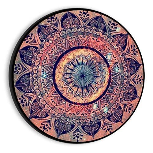 JHGAA Rompecabezas de 1000 Piezas para Adultos Rompecabezas de Patrones Circulares Rojos y Negros Rompecabezas para Adultos 1000 Piezas 67.5x67.5cm