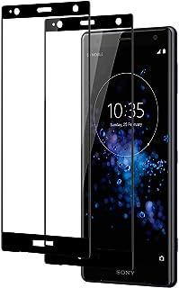 Xperia XZ2 フィルム XZ2 ガラスフィルム Sony Xperia XZ2 3D曲面全面保護フィルム 【2枚入り】エクスペリア XZ2 液晶保護フィルム 曲面デザイン 硬度9H 指紋防止 docomo SO-03K/auSOV37/...