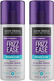 John Frieda Frizz Ease Dream Curls Spray, 2-pack, 6.7 Ounce Daily Styling Spray, Magnesium-enriched Formula, Revitalizes Natural Curls