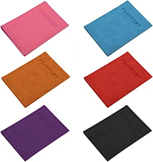 (Pack of 6) Opromo Leather Passport Holder Passport Case Cover Holder for Travel